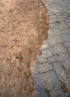 Weg entlang des Sandstrandes