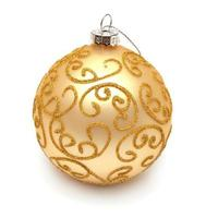 gelber Weihnachtsball foto