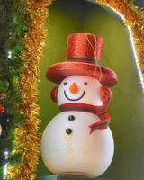 Weihnachtstag, ein Schneemann