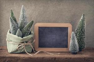 Retro Weihnachtsdekoration foto