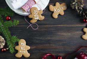 Lebkuchenmann. Tischkarten-Cookies