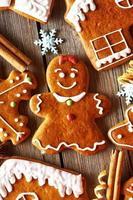 Weihnachten hausgemachte Lebkuchenplätzchen