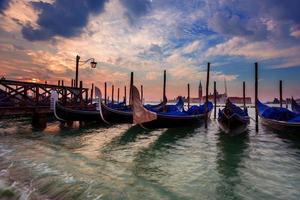 Gondeln in Venedig foto