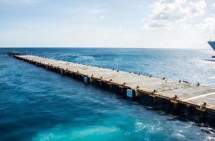 Schiffsanleger in st. Maarten