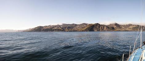 Küste von Jan Mayen Insel vom Meer
