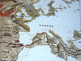 geologische Karte von Europa