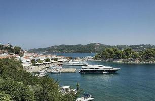 Skiathos Städte alter Hafen. foto