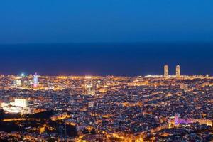 Barcelona vom Berg Tibidabo aus gesehen