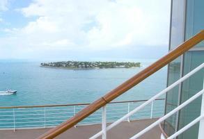 Kreuzfahrtschiff Deck Landschaft foto