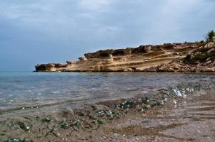 schöne abgelegene Bucht auf Zypern in der Nähe von Protaras foto