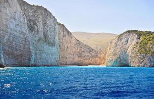 Küste von Griechenland, Navagio Strand, Zakynthos Insel foto