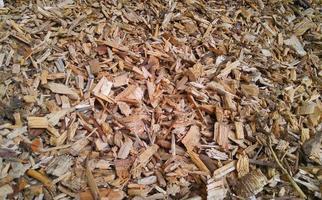 einige Holzspäne
