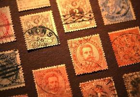 alte Briefmarken foto