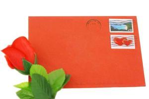 Umschlag zum Valentinstag foto