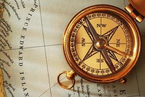 antiker Messingkompass