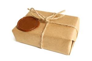 Paket mit Siegellack foto