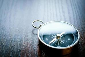 magnetischer Handkompass mit Copyspace