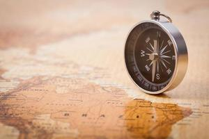 Karte mit Kompass