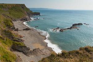 Kompasspunkt Strand bude Nord Cornwall England Großbritannien