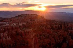 Sonnenaufgang in Bryce Canyon, Utah, USA foto