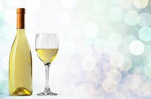 Wein, Flasche, Weißwein foto