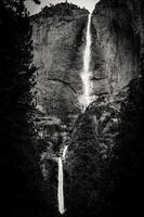 Yosemite fällt, schwarz & weiß foto