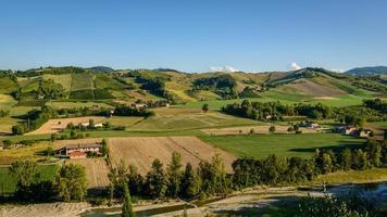 Panorama der Weinberge von castell'arquato
