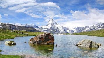 Panorama von Matterhorn, Schweiz. foto