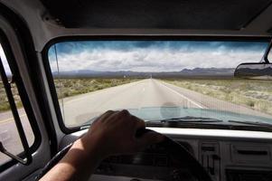 Ich fahre meinen Truck in Arizona