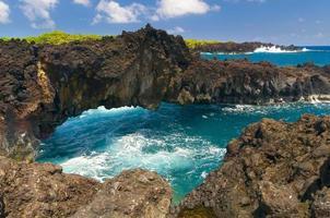spektakulärer Meerblick auf der Straße nach Hana, Maui, Hawaii. foto