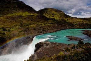Patagonien Wasserfall foto