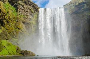 Skogafoss Wasserfall in Island foto