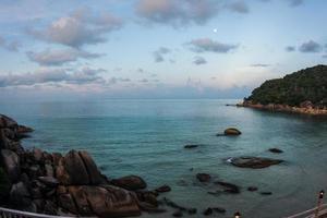 Sonnenuntergänge und Sonnenaufgänge in Cristal Bay, Samui, Thailand foto