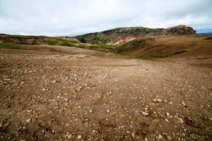 Vulkanlandschaft - Landmannalaugar, Island foto