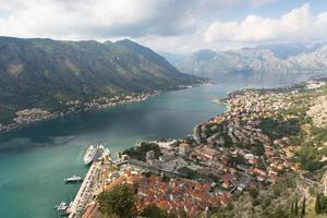 Kotor Bucht von Montenegro foto