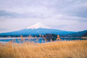 der Berg Fuji in Japan foto