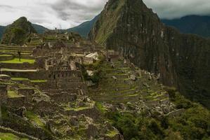 das Geheimnis der Berggipfel der Anden foto