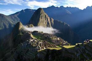 Machu Picchu bei Sonnenaufgang