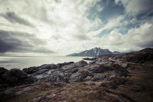 Lofoten Norwegen felsige Küste, Meerblick 4
