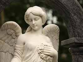 Engel mit Kranz foto