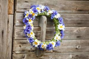 Rosenkranz aus blauen Kornblumen