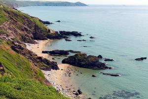 Whitsand Bay Beach Cornwall Küste England Großbritannien