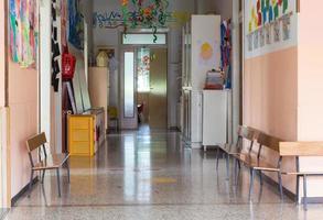 Flur eines Kindergartens für Kinder