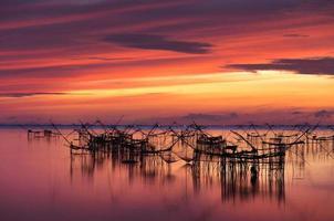 Fischernetze in Thailand foto