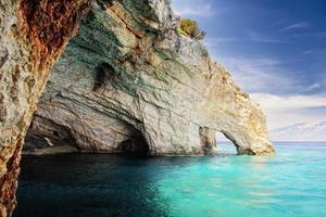 blaue Höhlen in Zakynthos, Griechenland foto