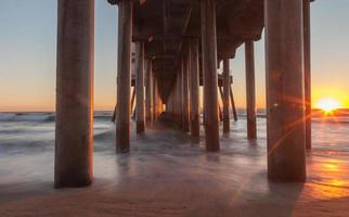 Huntington Beach Pier bei Sonnenuntergang