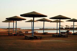 Strand Sonnenschirme - Ägypten foto