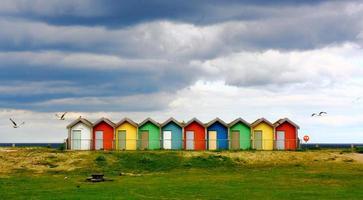 britische Strandhütten