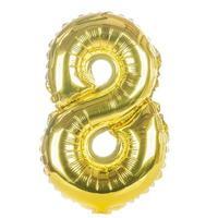 Goldballonschrift Teil des vollständigen Satzes von Zahlen, 8 foto