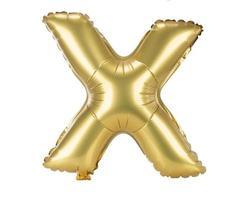 Goldballonschrift Großbuchstabe x foto
